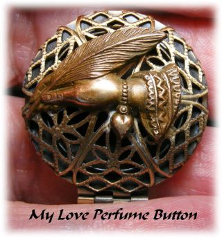 My Love Modern Perfume Locket Button photo