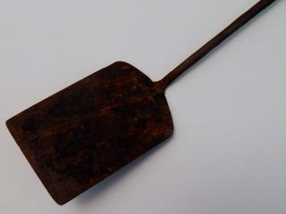 Antique Primitive Civil War Era Forged Wrought Iron Spatula Peel Hearth Ware photo