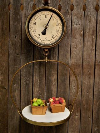 Antique General Store John Chatillon & Sons Hanging Produce Scale Stunning photo