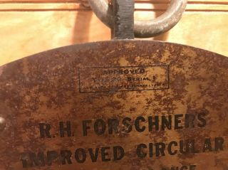 Vintage Hanging Brass Scale Forschner ' S Improved Circular Spring Balance photo