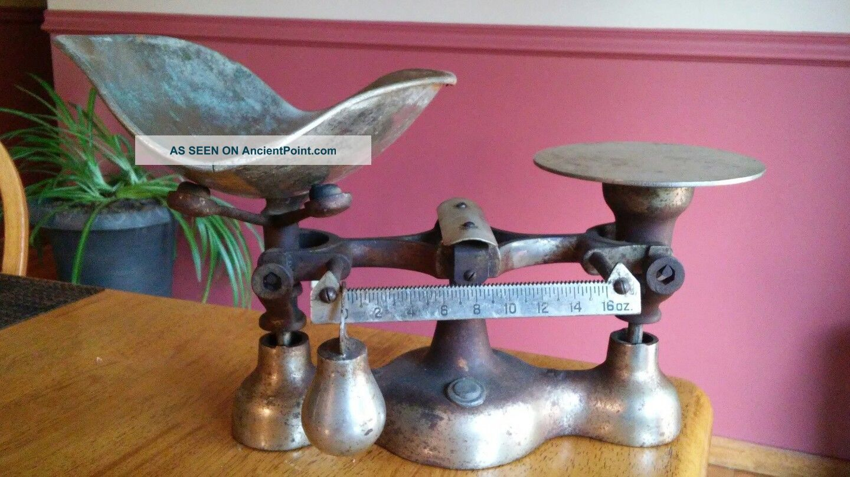 Vintage/antique Enterprise Jacobs Bros.  No.  4 Cast Iron Candy Or Grain Scale Scales photo