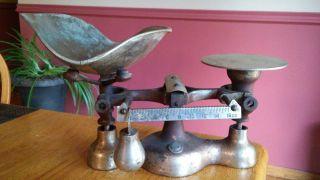 Vintage/antique Enterprise Jacobs Bros.  No.  4 Cast Iron Candy Or Grain Scale photo