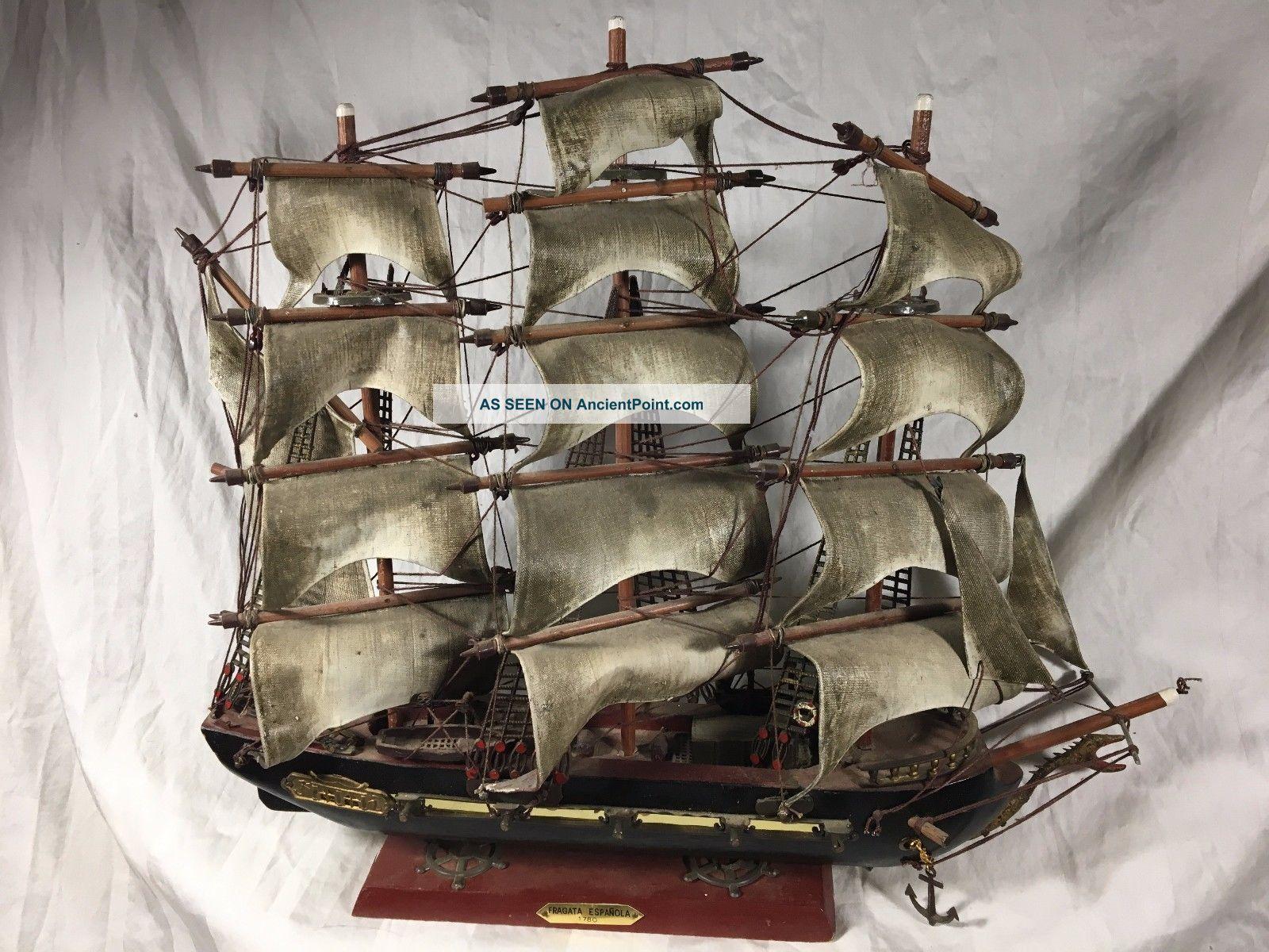 Fragata Espanola 1780 Maritime Model Ship Sailing Vessel Large 16