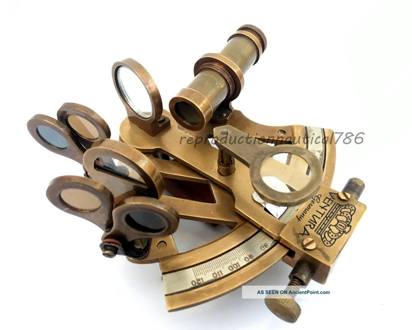 Handmade Germany Astrolabe Antique Brass Sextant Vintage Marine Sextant Decor Sextants photo