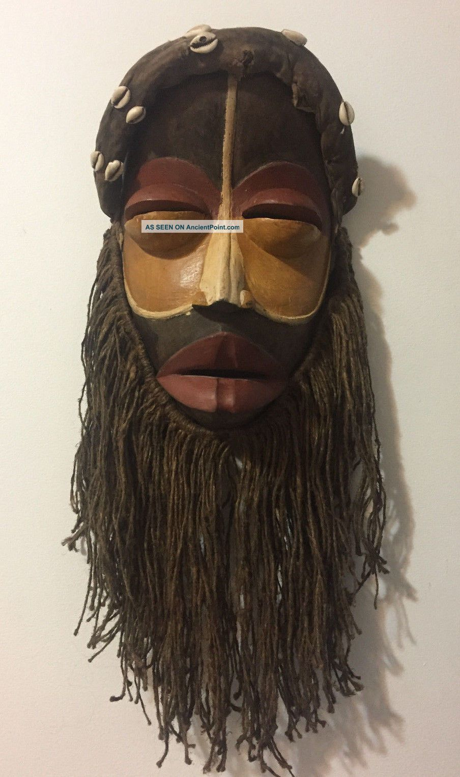 African Dan Mask With Raffia Beard Total Lenght About 25 Inches (64cm) Masks photo
