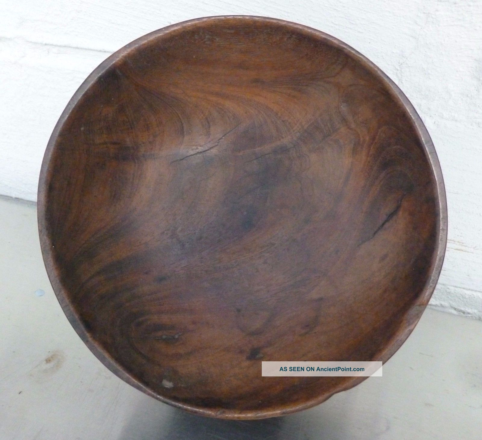 Antique South Sumatran Dulang,  Heavy Tropical Hardwood,  Mahogany? Artifact Pacific Islands & Oceania photo