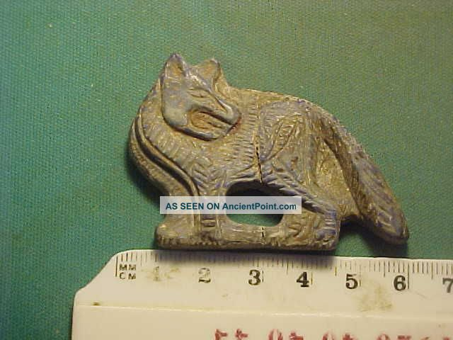 Near Eastern Wild Dog Amulet Lapis Lazuli Circa 100 - 200 Ad. Near Eastern photo