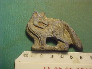 Near Eastern Wild Dog Amulet Lapis Lazuli Circa 100 - 200 Ad. photo