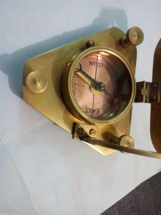 Antique Maritime Large West London Smart Designed - Brass Sundial Compass Nautical photo