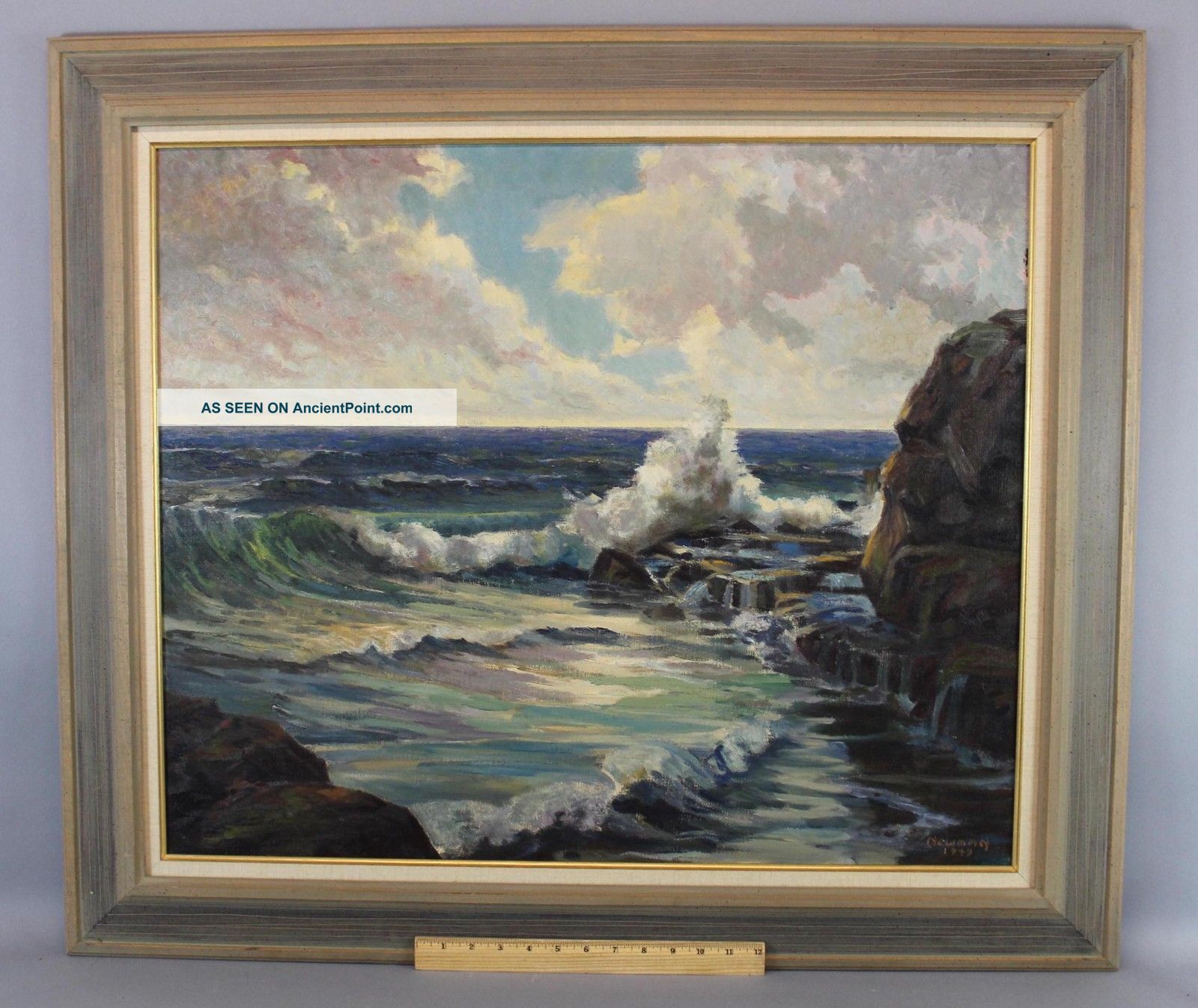 Vintage 1949 Bird Spencer Newman Jersey Maritime Seascape Oil Painting Nr Other Maritime Antiques photo