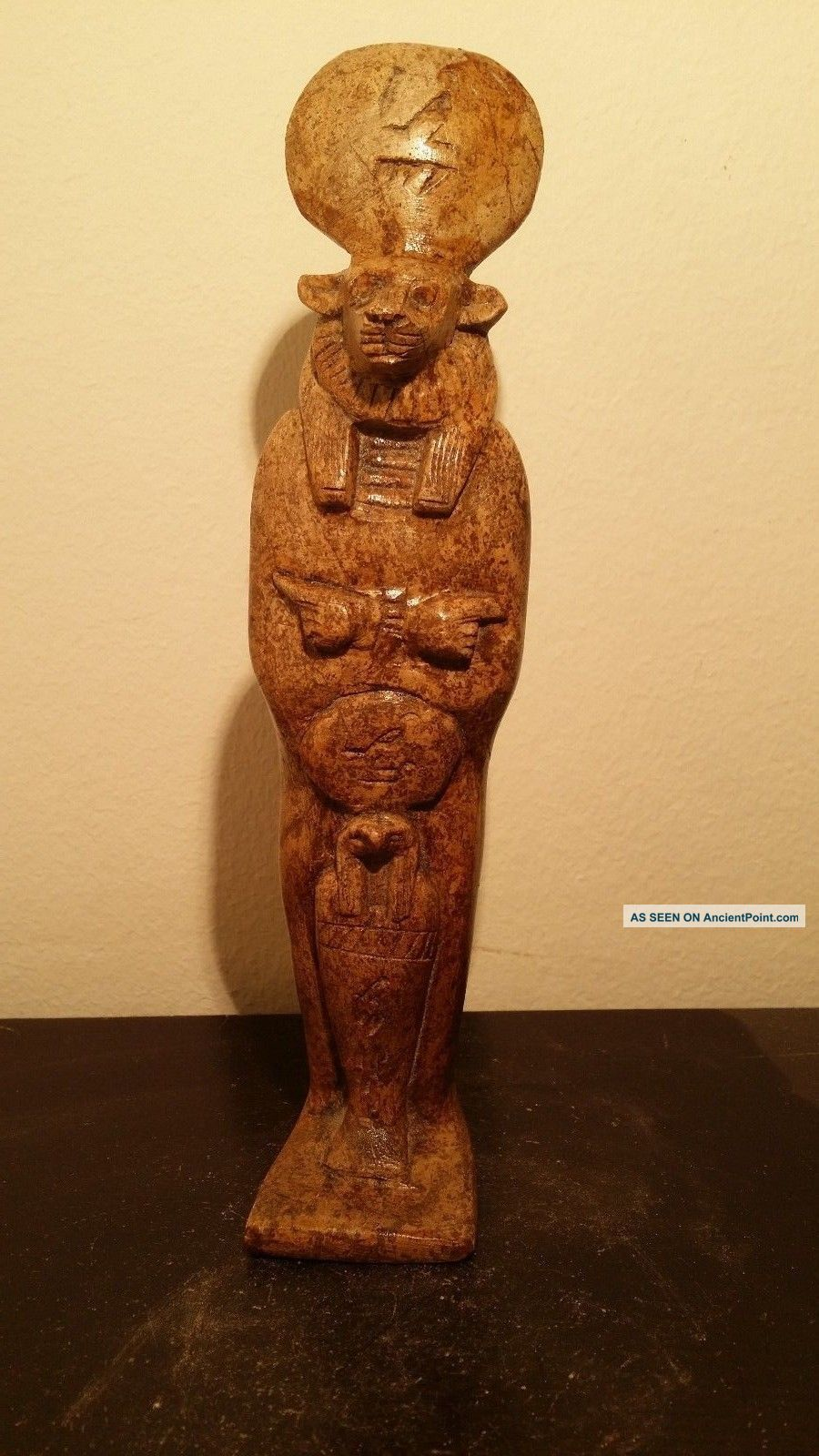 Rare Antique Ancient Egyptian Statue For God Sekhmet & God Horus (1760 - 1640 Bc) Egyptian photo