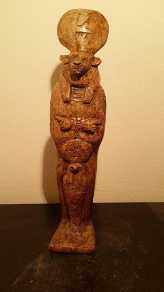 Rare Antique Ancient Egyptian Statue For God Sekhmet & God Horus (1760 - 1640 Bc) photo