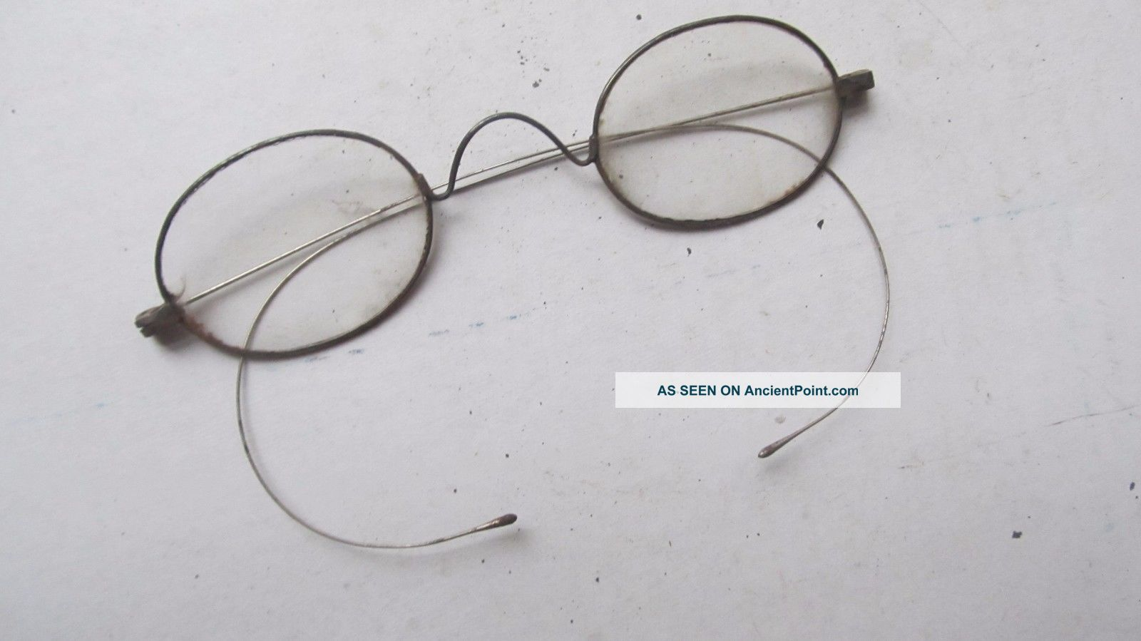 Early Antique Victorian Oval Eyeglasses,  Costume,  Halloween,  Glasses,  1870 Optical photo