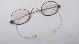 Early Antique Victorian Oval Eyeglasses,  Costume,  Halloween,  Glasses,  1870 photo