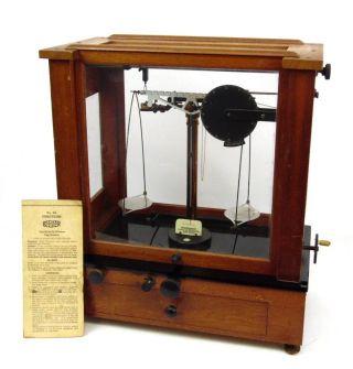 Antique 1920s Christian Becker Chainomatic Apothocary Medical Balance Scale photo