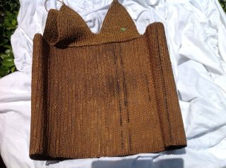 Papua Guinea Cuirass Woven Chest Armor Asmat Field Collected Irian Jaya photo