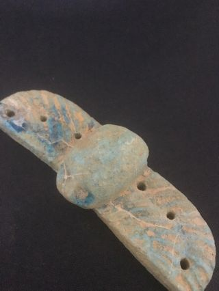 Ancient Egyptian Faience Amulet 30th Dyn 380 Bc photo