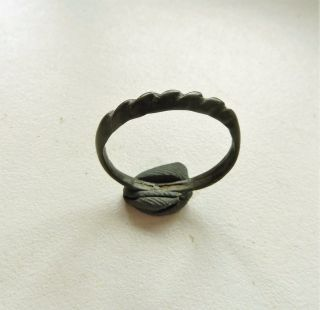 Twisted Wire Scandinavian Viking Bronze Ring (118) photo