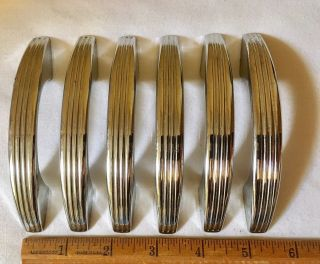 Six Vintage 50 ' S Era Chrome Drawer Handles Salvage National Lock Co. photo