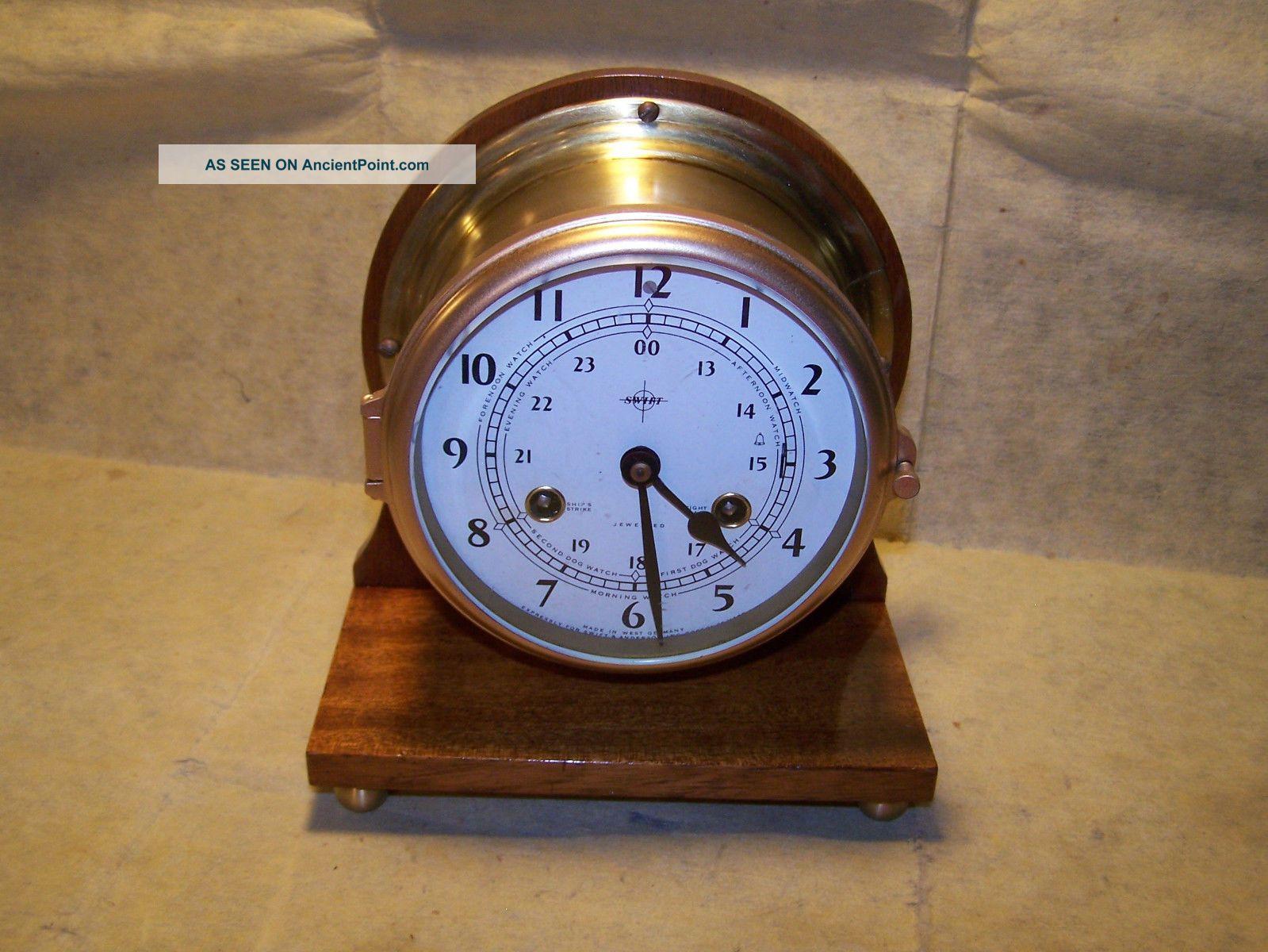 Schatz Brass Ships Bell Clock Clocks photo