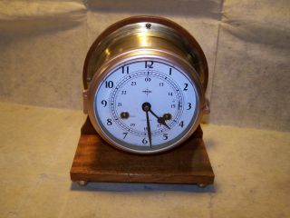 Schatz Brass Ships Bell Clock photo