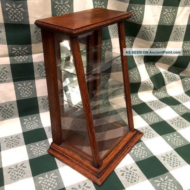 Antique Oak & Glass Counter Top Display Case Display Cases photo
