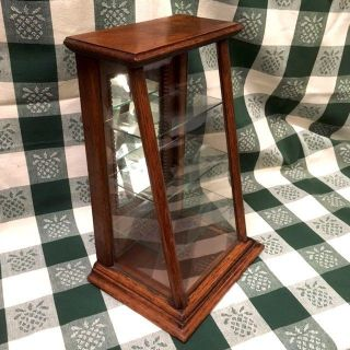 Antique Oak & Glass Counter Top Display Case photo