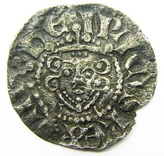 English Medieval Silver Penny Of King Henry Iii Davi Of London C.  1247 - 1272 A.  D. photo