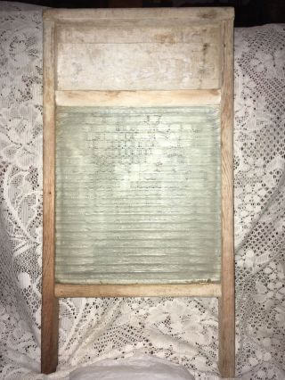 Antique National Washboard With Glass Lovely photo