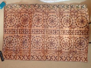 Vintage 1940 ' S South Pacific Tapa Bark Cloth photo