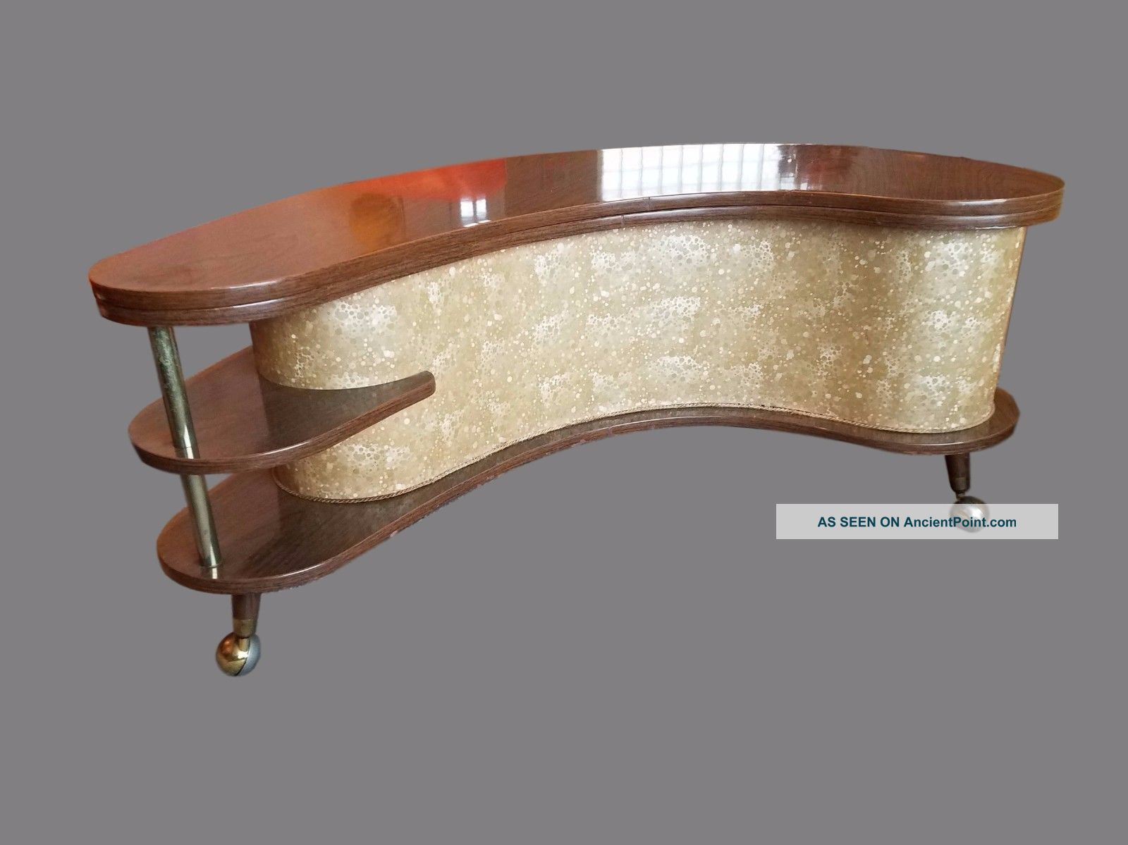 Mid - Century Atomic Boomerang Portable Bar Post-1950 photo