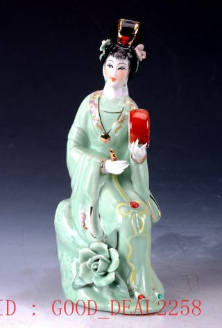 Chinese Porcelain Handmade Beauty Pattern Statue Cx019 photo
