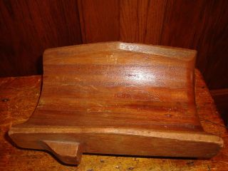 Antique Industrial Wood Pattern Mold Oliver Plow Company - Ata photo