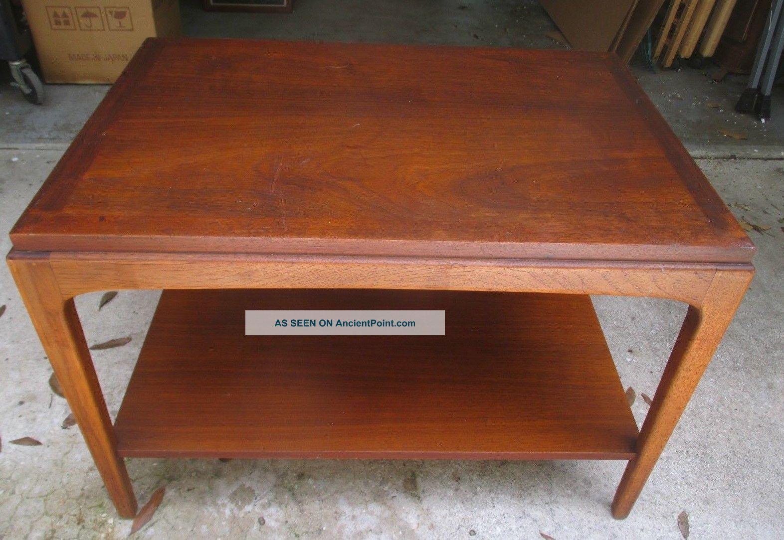 1962 Lane Mid Century Modern End Table W/shelf Altavista Virginia Mcm Post-1950 photo