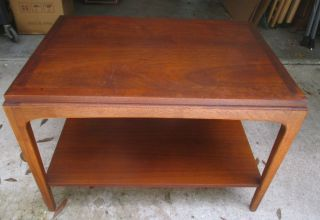 1962 Lane Mid Century Modern End Table W/shelf Altavista Virginia Mcm photo