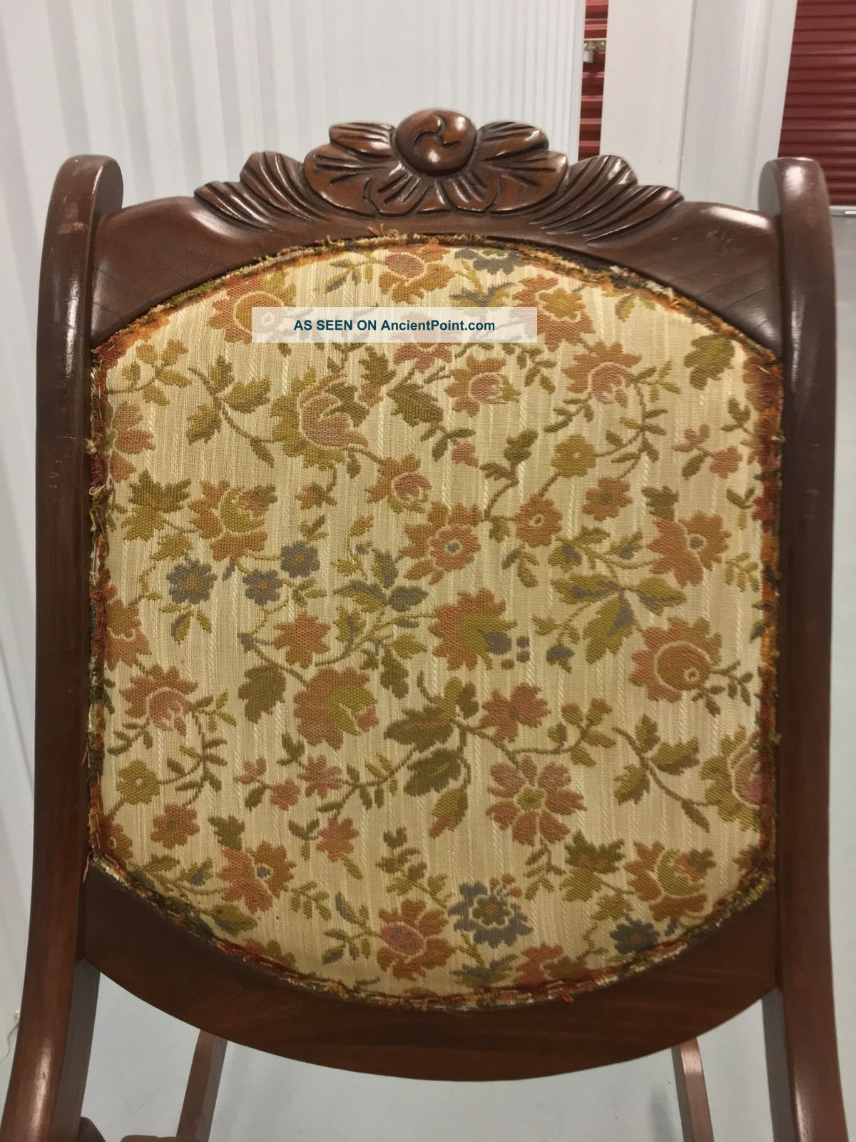 Antique Vintage Wooden Folding Rocker Rocking Chair