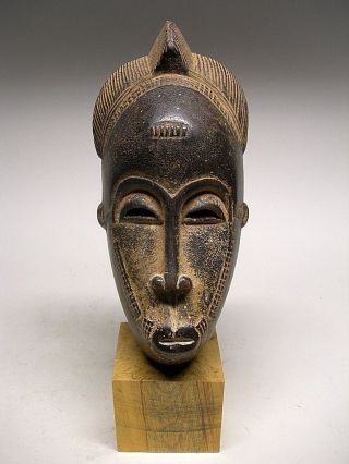 Small Baule Female Mask From Cote D ' Ivoire photo