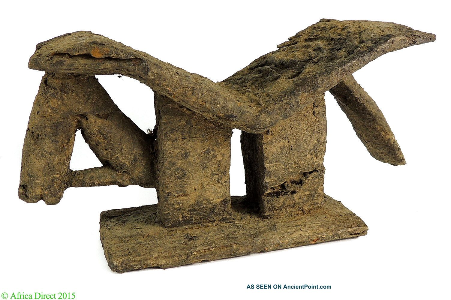 Dogon Headrest Zoomorphic Horse Encrusted Mali African Art Other African Antiques photo