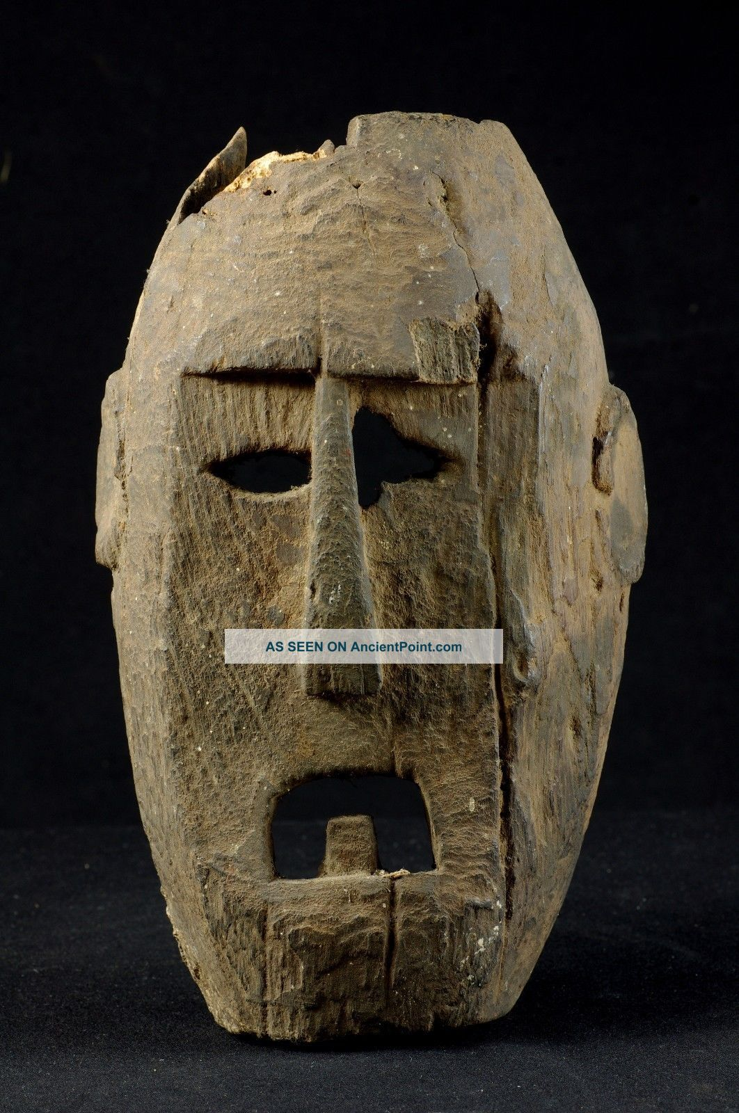 Old Selfstanding Atoni Mask - West Timor - Tribal Artifact Pacific Islands & Oceania photo