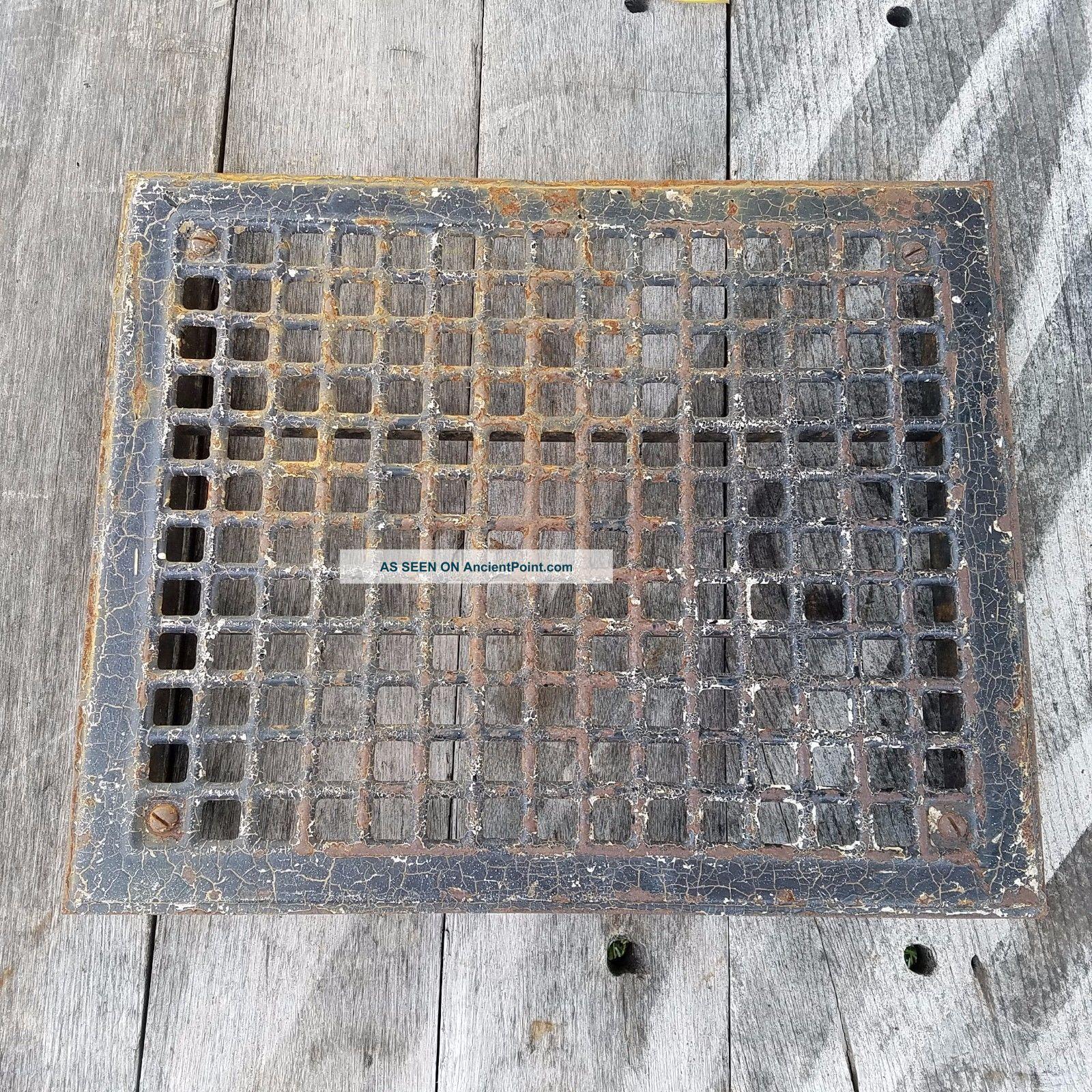 Vtg Metal Floor Grate Register Or Grill Salvaged Vent 14