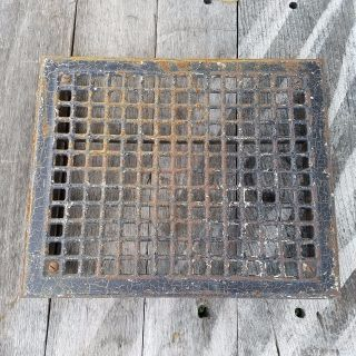Vtg Metal Floor Grate Register Or Grill Salvaged Vent 14