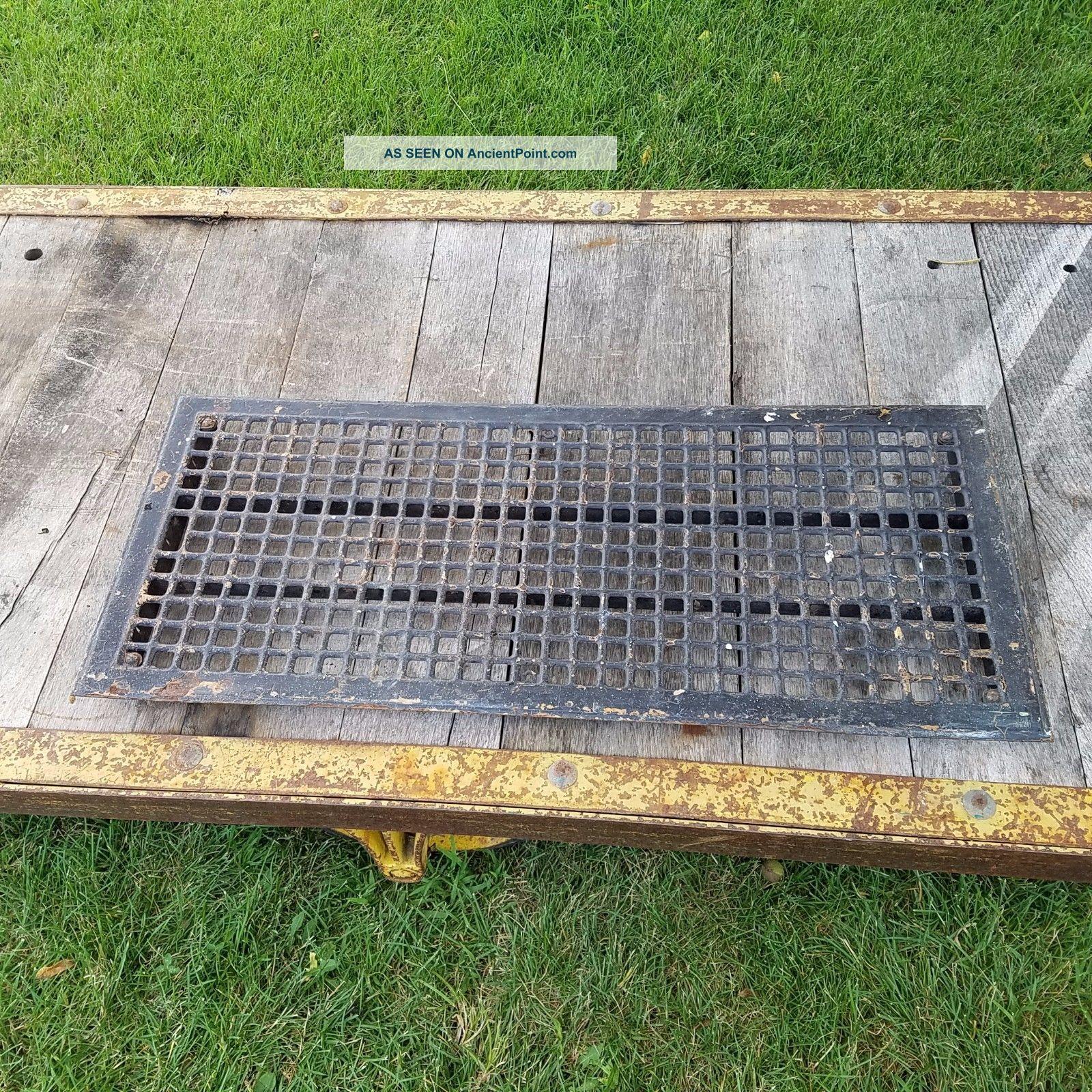 Vtg Metal Floor Grate Register Or Grill Salvaged Vent 32
