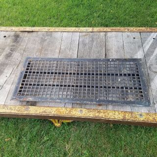 Vtg Metal Floor Grate Register Or Grill Salvaged Vent 32