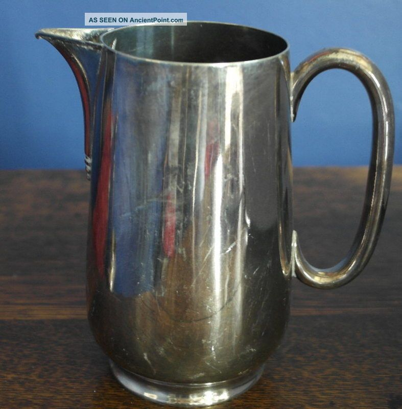 Antique Silver Plate Water Jug Pitcher Pitchers & Jugs photo