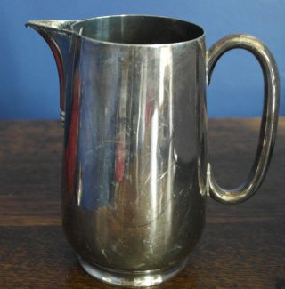 Antique Silver Plate Water Jug Pitcher photo