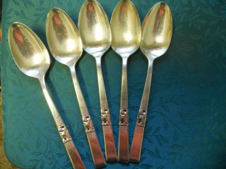 Vintage Community Silverplate Oval Soup Spoons 7 3/8