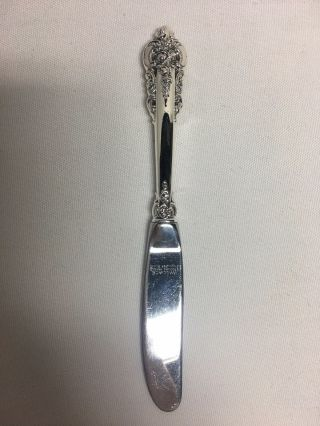Wallace Grand Baroque Sterling Silver Hh Butter Spreader Knife No Mono 6 1/4