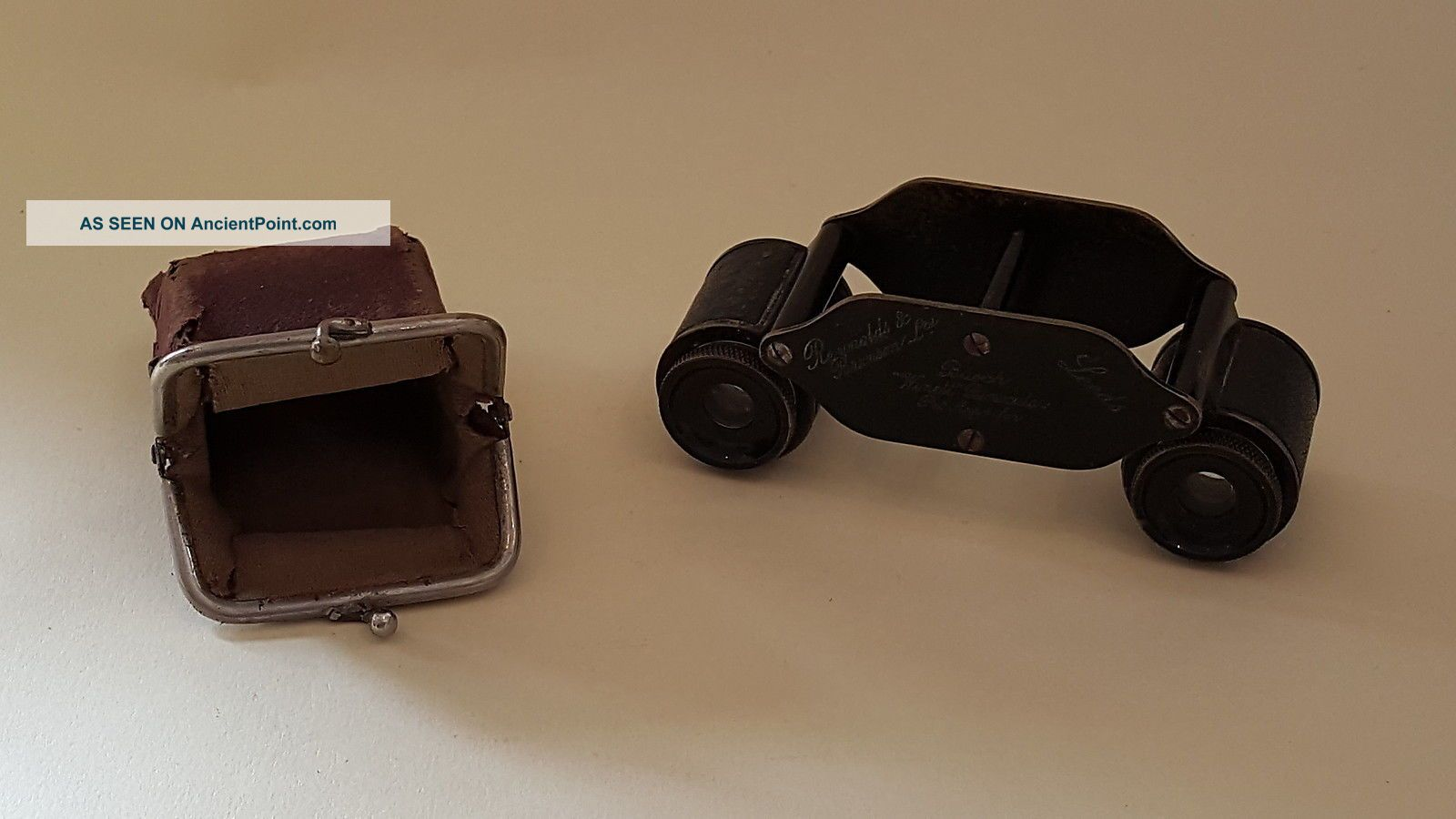 Buoch Winett Vintage Art Deco Antique Cased Small Binoculars Other Antique Science Equip photo