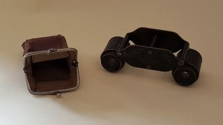 Buoch Winett Vintage Art Deco Antique Cased Small Binoculars photo