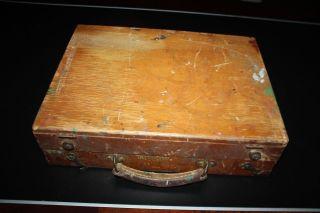 Vintage Grumbacher Wooden Artist Case Box Pochade photo